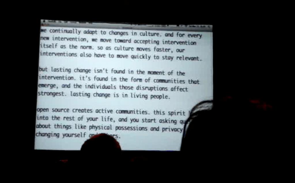 Kyle's talk